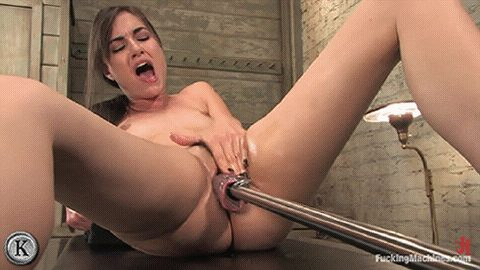 Satisfied her cunt with artificial cock